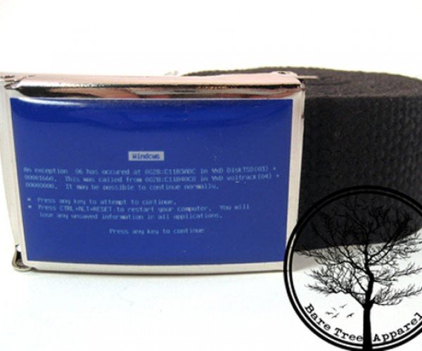 Bsod Belt and Pong Belts Are Perfect for Those Dressy Geek Occasions