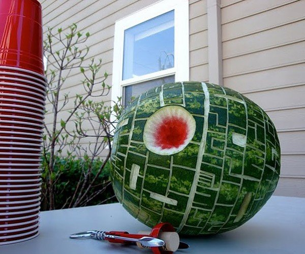 Death Star Watermelons and Cantaloupes