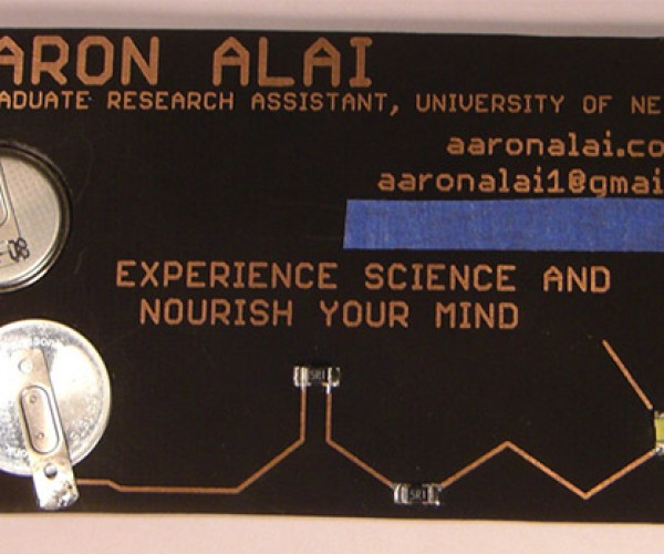 Light Up Business Card Gives Contact Details, Physics and Chemistry Lessons