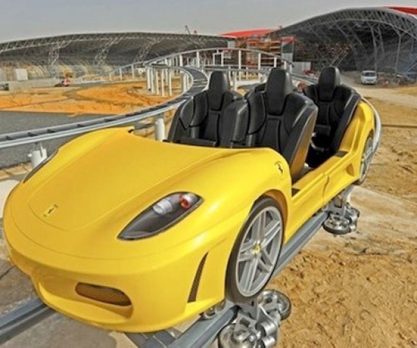 Coolest Roller Coaster Ever Uses Ferrari Cars