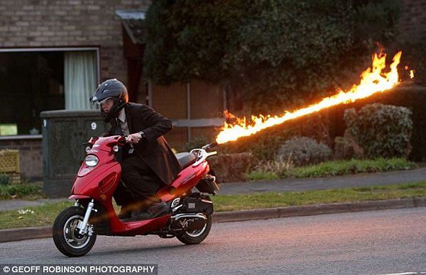 flamethrower scooter