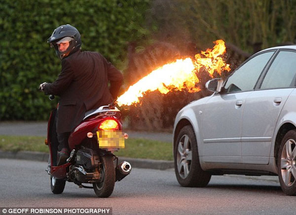flamethrower scooter bike