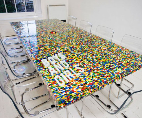 LEGO Boardroom Table: Work and Play Clicking Together