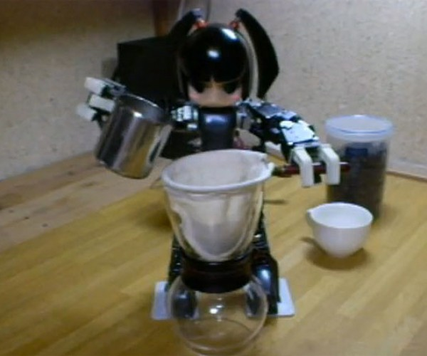 Clockwork'S Awesome Little Manga-Bot Makes Your Coffee