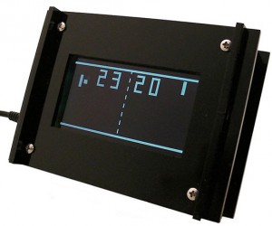 Monochron Pong Clock is a Lot Geekier Than It Looks Like