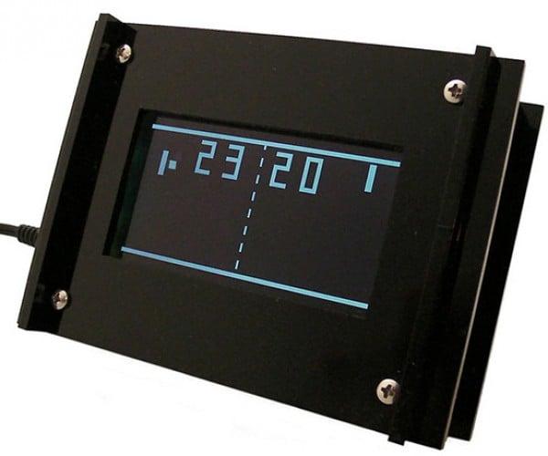 Monochron Pong Clock is a Lot Geekier Than It Looks Like