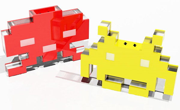 space invaders salt pepper shakers