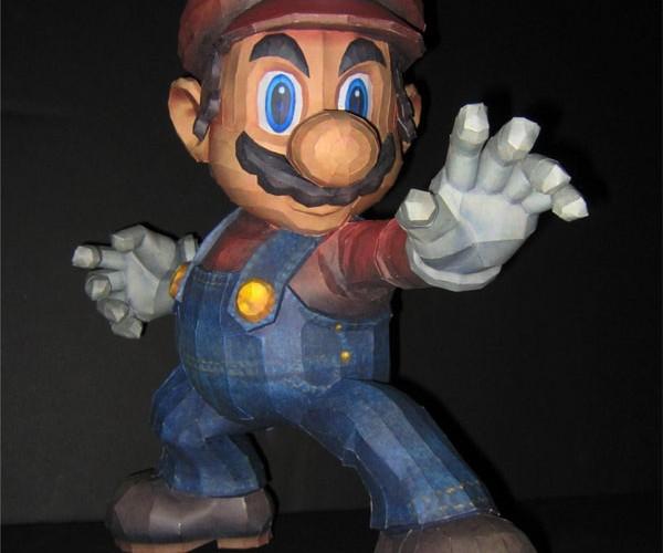 Super Smash Bros. Brawl Mario Papercraft: the Real Paper Mario