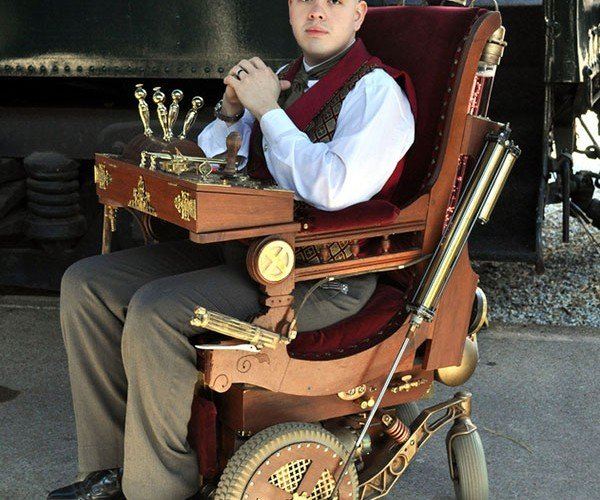 Steampunk Professor X Wheelchair: What if… Prof. X was a 19th Century Drunk?