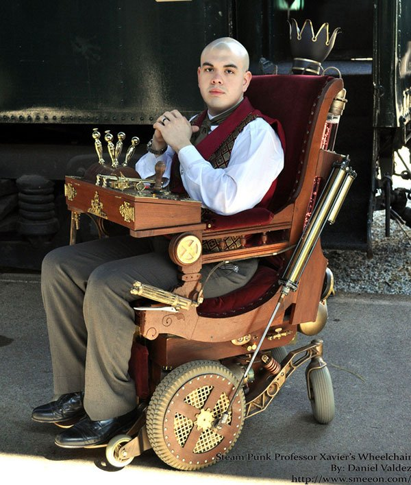 steampunk professor x wheelchair