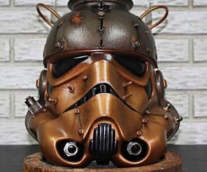 Steampunk Stormtrooper Helmet is Geek Overload