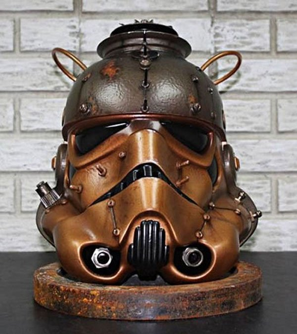 Steampunk Stormtrooper Helm of Geekiness