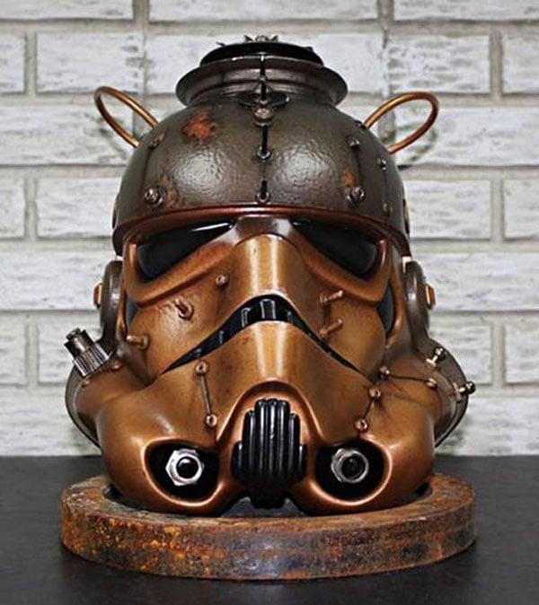 Steampunk stormtrooper helmet is geek overload technabob - Stormtrooper cookie jar ...