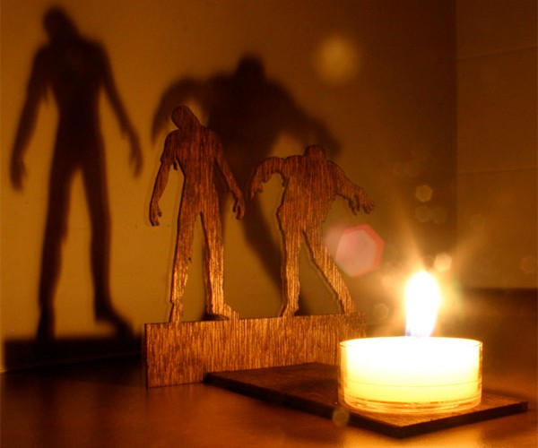 Zombie Candle Casts a Shadow on Your Happy Little Pad