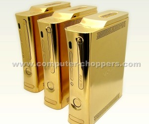 golden xbox 360s by computer choppers