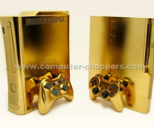 golden xbox 360 and ps3 by computer choppers
