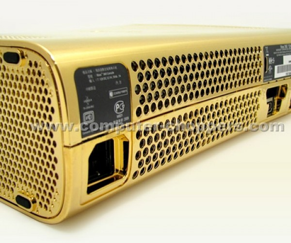 golden xbox 360 by computer choppers