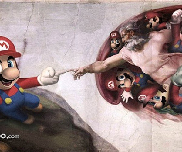 super mario meets god: by clint flint