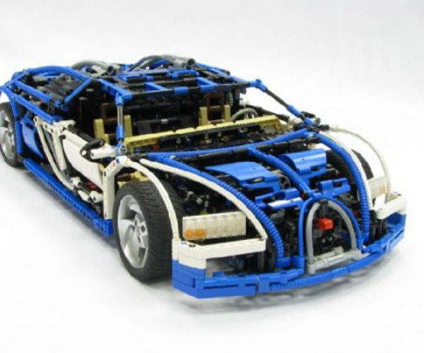 LEGO Technic Bugatti Veyron Can Actually Drive, has Real Working Transmission