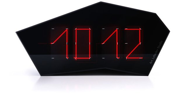 timepiece clock art lebedev reflectius laser