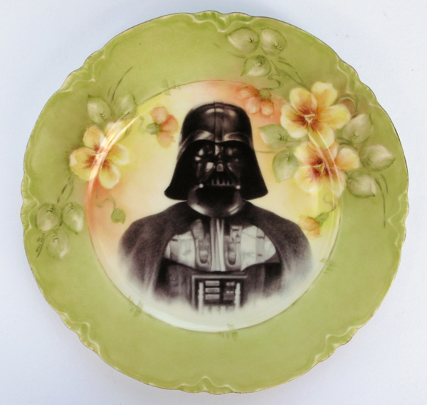 star wars plates custom art painted beatupcreations