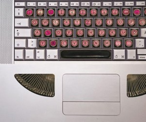 Stickers Transform Keyboards Into Typewriters