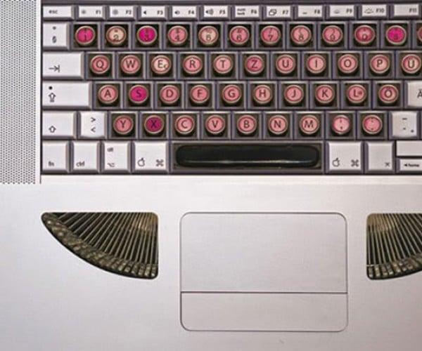 Stickers Transform Keyboards Into Typewriters
