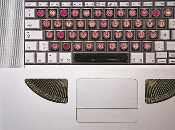 stickers steampunk typewriter mac apple laptop decoration