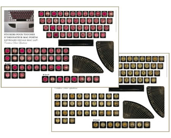 stickers steampunk typewriter mac apple laptop decoration