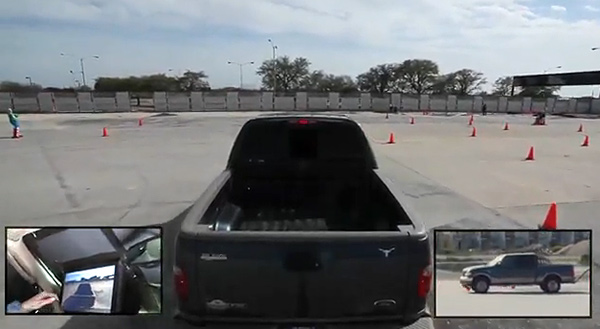 3rd person driving