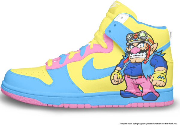 Wario Nike Dunks
