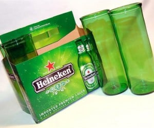Beer Bottles Into Glasses, Best Recycling Method Ever?