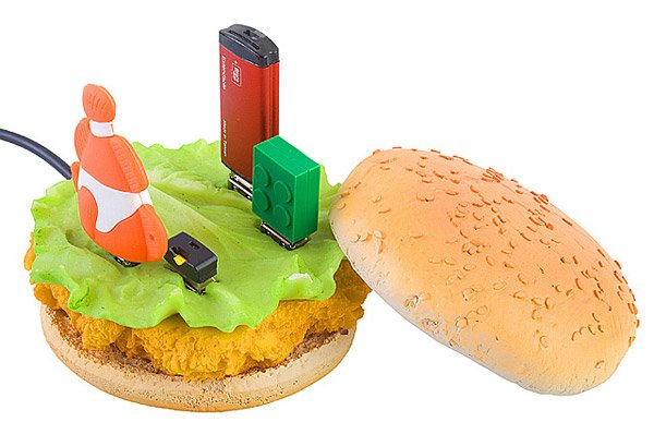 chicken burger usb port