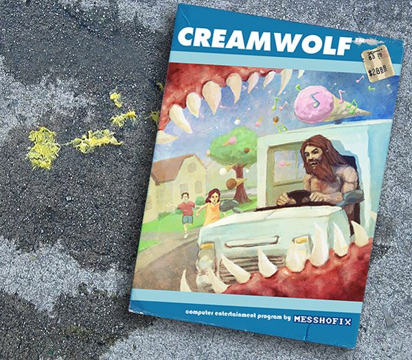 cream wolf flash game box