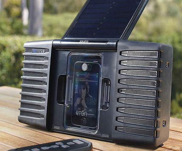 Eton Soulra Solar-Powered iPod Speaker: Loud Beats on Bright Days