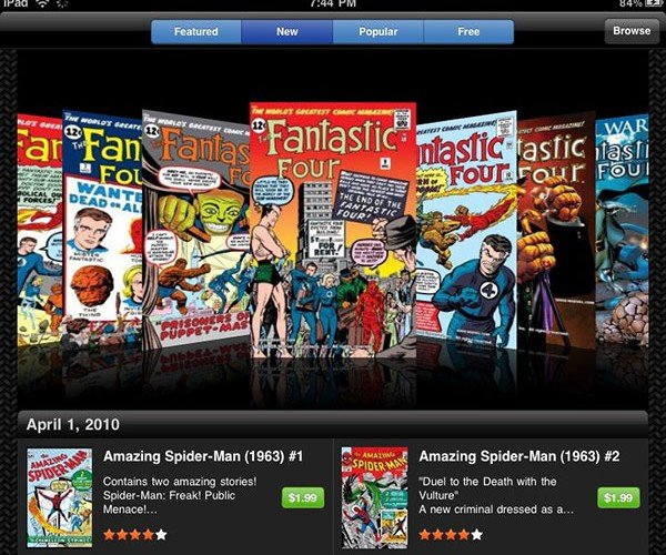 Marvel Comics iPad App: a Comic Book Store in Your Hand