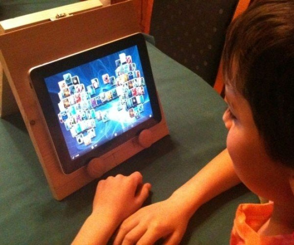Kid Makes His Own iPad Stand