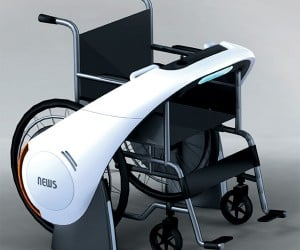 News Concept Motor Add-on Turbocharges Wheelchairs