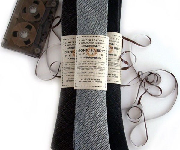 Recycled Cassette Tape Neckties: Audible Wear