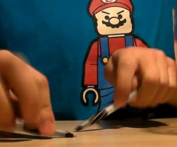 Super Mario Bros. Theme Played on Pencils