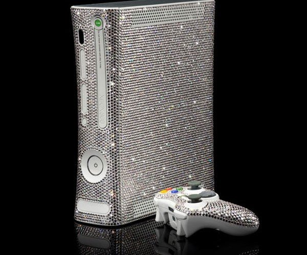 Xbox 360 Bejeweled in Swarovski Crystals: for Videogame Playas