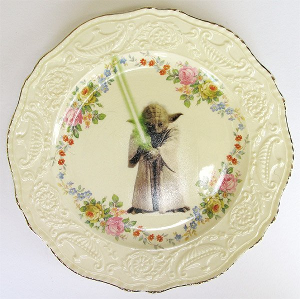 yoda_antique_plate & Star Wars Antique Plates: the Forks Are Not With Them - Technabob