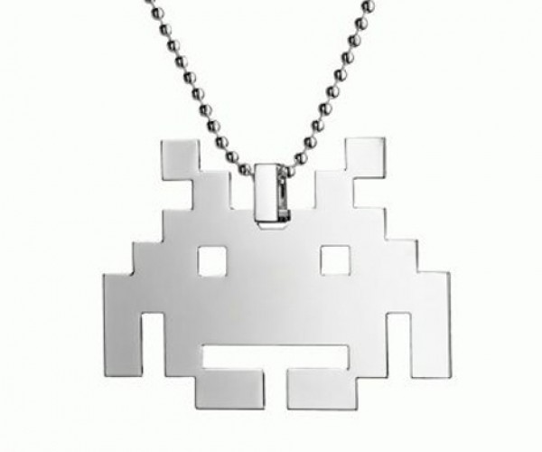 Space Invaders Silver Pendant: Wear an Alien Around Your Neck and Hope It Doesn'T Choke You to Death