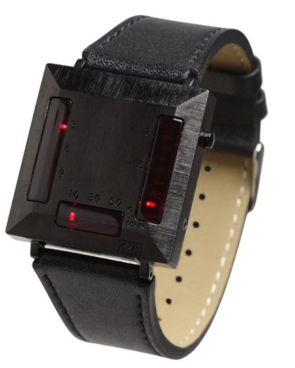 cylon watch robot timepiece led japan
