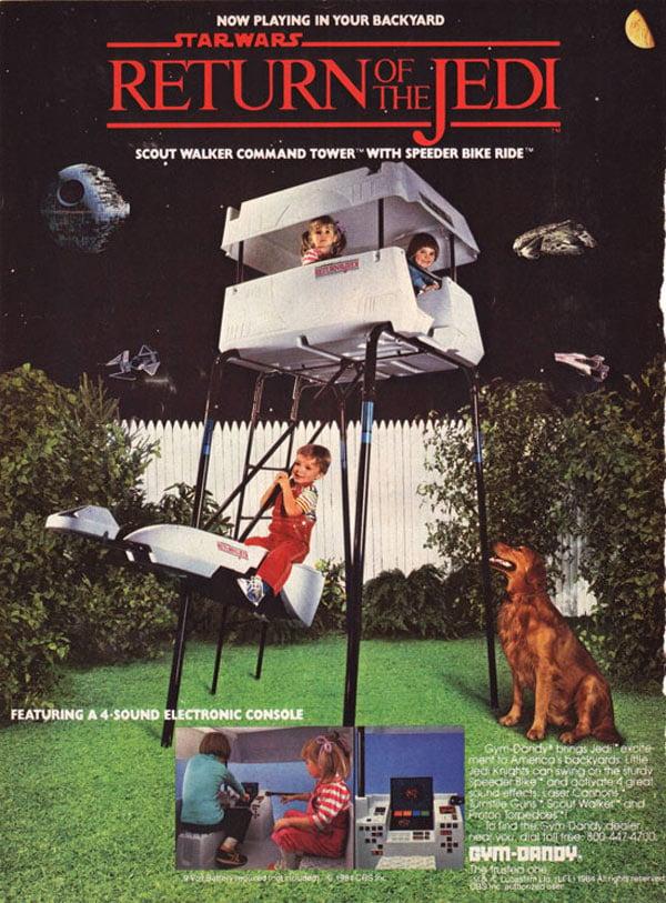 star wars jungle gym dandy return of the jedi 1984 retro
