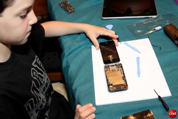 kid iphone repair apple phone cell broken glass
