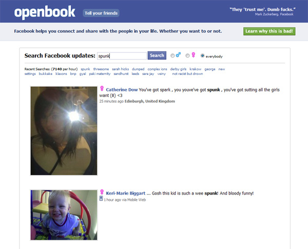 openbook facebook privacy networking social network settings