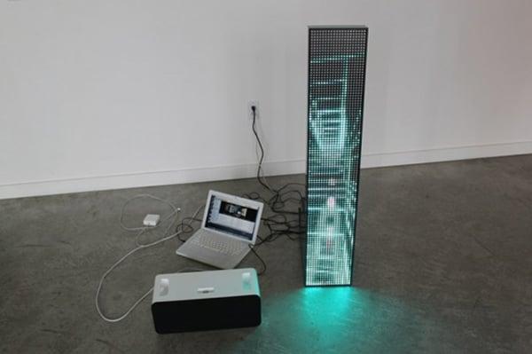 lucia led matrix display tangible interaction interactive