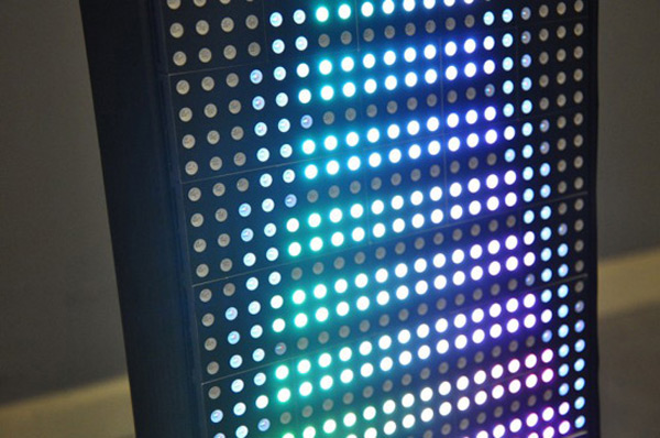 lucia led matrix display tangible interaction interactive