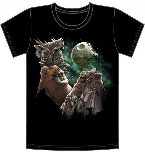 3 ewok moon t shirt